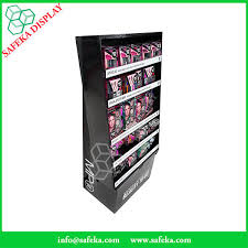 Mac Makeup Display Stands Tiers Point Of Sale Merchandising Cardboard Display Shelf Makeup 38