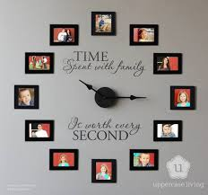 time spent with family is worth every second picture frame wall clock idea