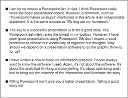 getting to the point about powerpoint a typical slide bulleted text