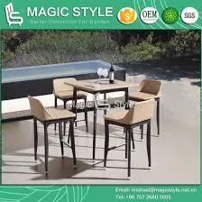 outdoor wicker bar set rattan weaving bar stool garden wicker bar table patio weaving bar set