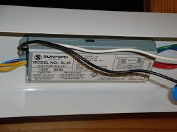 running new fluorescent light ballast first of all unplug the light then remove the fluorescent s