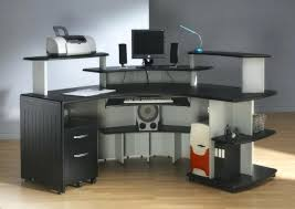 wooden office desk. Contemporary Wood Office Furniture Oak Color Computer Desk Black Solid Wooden