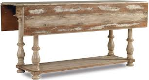 hooker furniture wakefield drop leaf console table with two