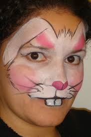 rabbit face paint coloring pages