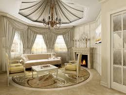 Living Room Classic Design Tie Back Curtain Ideas For Living Room Using Grey Classic Design
