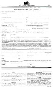 Residential Lease Contract Apartment L Lease Template Basic Agreement Form Or