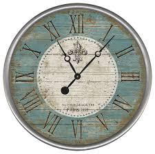 fleur round vintage clock 18