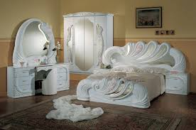 White italian furniture Fancy La Furniture Store Vanity White Italian Classic 5piece Bedroom Set