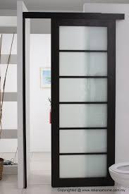 nice looking frosted sliding sin interior wooden glass door in glass doors for bathrooms
