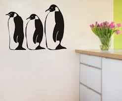 penguin wall decals vinyl stickers home decor bedroom wallpaper nursery wall decal kids room decoration in wall stickers from home garden on  on penguin wall art for nursery with penguin wall decals vinyl stickers home decor bedroom wallpaper