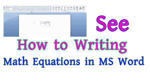 see how to writing math equations in microsoft word don t miss part 21