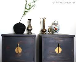 asian themed furniture. Themed Furniture Antique Oriental Nightstands Get A Makeover With Chalk Paint And Metallic Gold Paint. Asian S