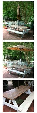 Needed a patio table on a budget. I thought the picnic table turned out  great