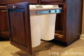 S Cabinet For Garbage Can Kitchen Trash Slide Out  Picture Design