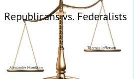 Jefferson Vs Hamilton Venn Diagram Federalist Vs Democratic Republicans Sutori