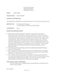 Lifeguard Resume Examples Bullets Head Job Description Toreto Co