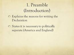 Declaration Of Independence Objectives 1 Create A Break Up Letter