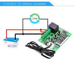 W1209 12v Dc Heat Cool Temperature Control Switch
