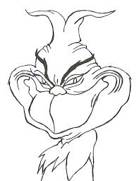 Printable Grinch Stole Christmas Coloring Pages Print Allmadecine
