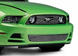 mustang grille options explained americanmuscle 2013 2014 mustang a polished aluminum upper and lower grille