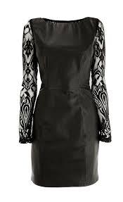desler leather prom dress