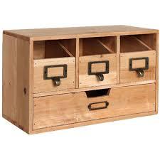 small desktop organizer drawer cabinet storage craft wood