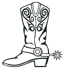 Boots Coloring Pages To Print Boots Coloring Pages To Print Cowboy