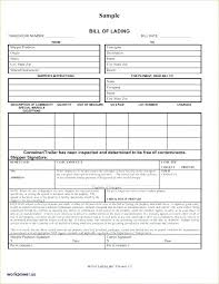 Blank Bill Of Lading Forms Stunning Blank Ocean Bill Of Lading Form Awesome Template Free Forms