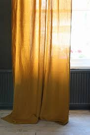 linen blend curtain with gold spot dijon