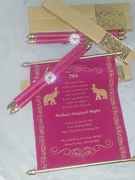 Scroll Birthday Invitations Decorative Scroll Invitation With Rhinestone Decoration Set Of 25