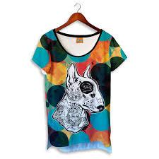 Tattoo Pitbull V Neck T Shirt