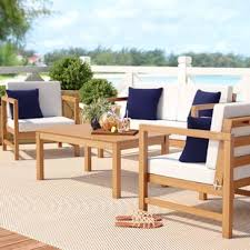 Wood outdoor patio furniture Wooden Table Chair Quickview World Market Wood Patio Furniture Youll Love Wayfair