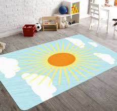 image of beautiful nursery area rugs