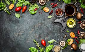delicious food background. Fine Food Fresh Delicious Ingredients For Healthy Cooking Or Salad Making On Rustic  Background Top View Throughout Delicious Food Background D
