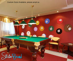 wall art ideas design hobby desk table billiard wall art suitable for cafe decorations hangout vinyl removable mural sample decals indoor furniture  on pool billiards wall art with wall art ideas design hobby desk table billiard wall art suitable