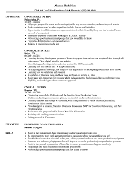 Summer Internship Resume Examples Cnn Intern Resume Samples Velvet Jobs