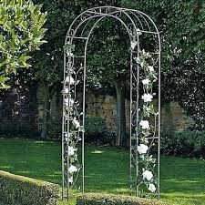 garden arch metal arches extra wide with gate for metal garden arches