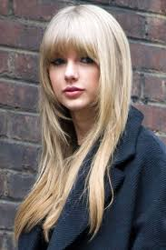 taylor swift s long hair styles with short bangs