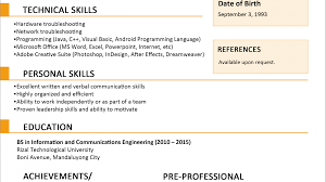 Cute Resume Sample 2015 Philippines Contemporary Example Resume