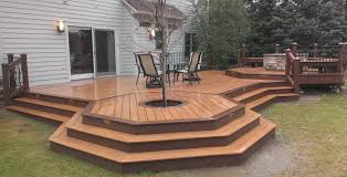 beautiful fire pit in wood deck fire pit on wood deck plan best fire pit on wood deck ideas