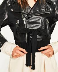 zara women ss 2017 studio leather jacket black sizes m l ref 0521 041 399
