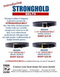 strong leather company is proud to present the stronghold belt