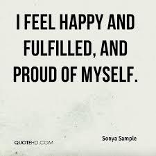 Myself Quotes Amazing Sonya Sample Quotes QuoteHD