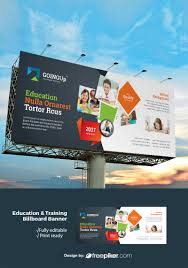 Design A Billboard Online Free Freepiker Education Training Billboard Banner With Black