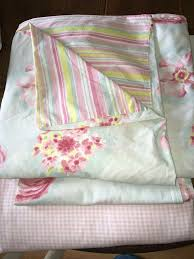 girls shabby chic single bedding set blues and pinks