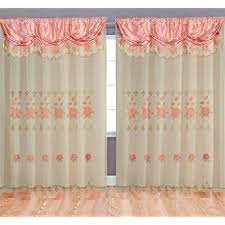 rose pink room decor embroidery sheer