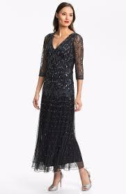 Details About Pisarro Nights Beaded Mesh Dress Sz 16 Black