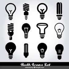 vector square blue icon lighting bulb. monochrome bulb icons set vector square blue icon lighting o