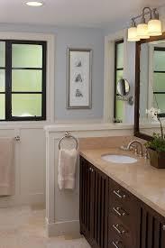 traditional half bathroom ideas. Traditional Half Bathroom Ideas With Pony Wall Dark Wood Cabinets R