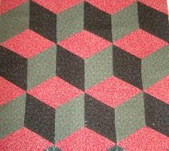 3-D Quilt Blocks: Quilting Optical Illusions & Easy Tumbling Blocks 3D quilt block tutorial Adamdwight.com